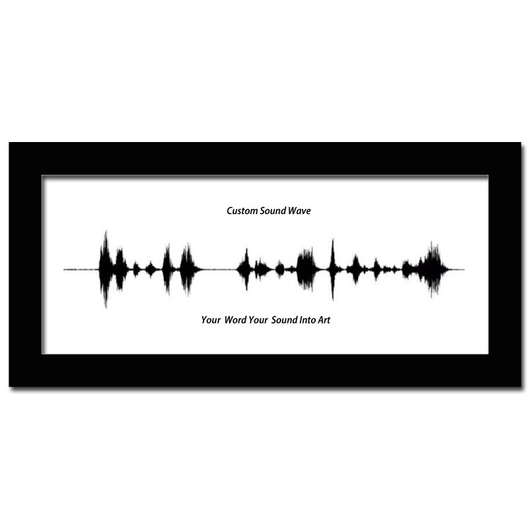 A Custom Sound Wave Art