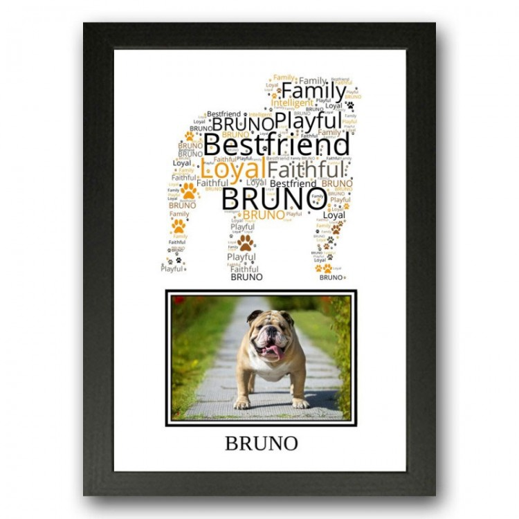 Bulldog Photo Print Gift