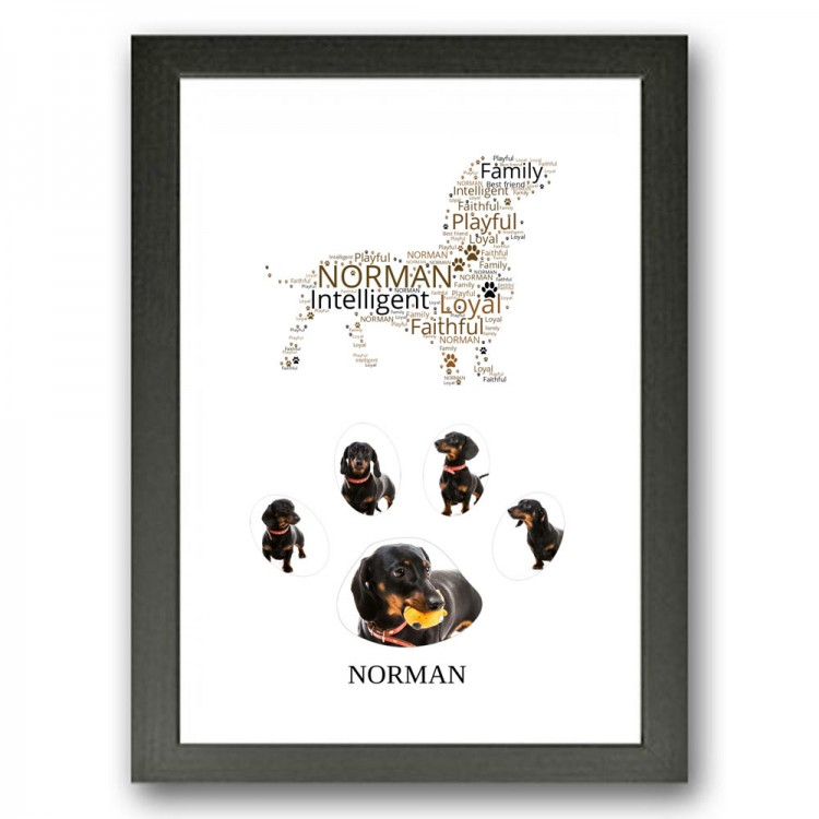 Dachshund Dog Photo Collage Gift