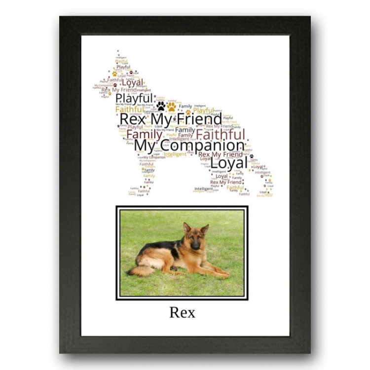German Shepherd Photo Print Gift