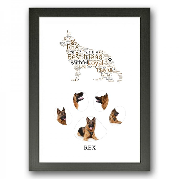 German Shepherd Dog Photo Collage Gift