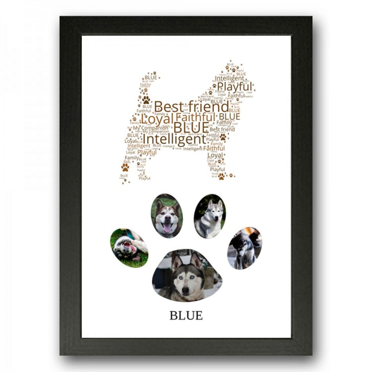 Siberian Husky Dog Photo Collage Gift