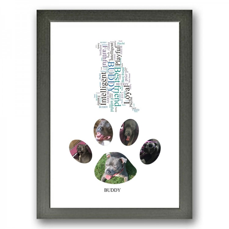 Staffordshire Bull Terrier Dog Photo Collage Gift
