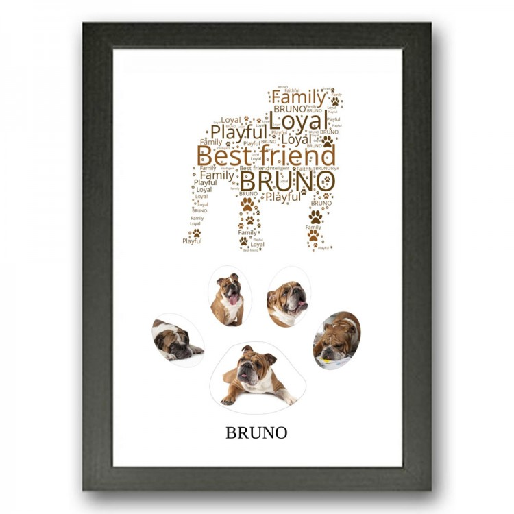 Bulldog Photo Collage Gift