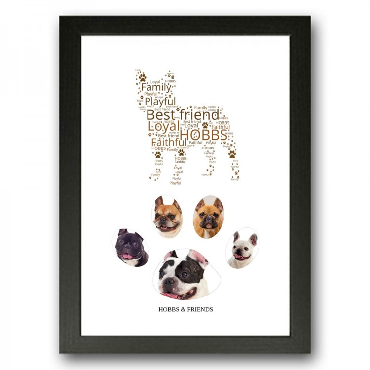 French Bulldog Photo Collage Gift