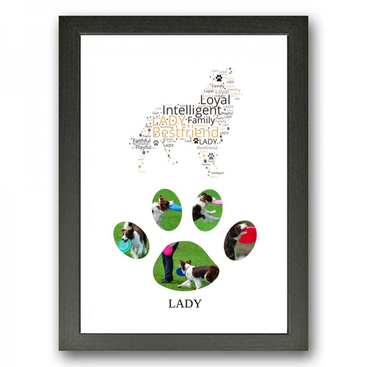 Border Collie Dog Photo Collage Gift