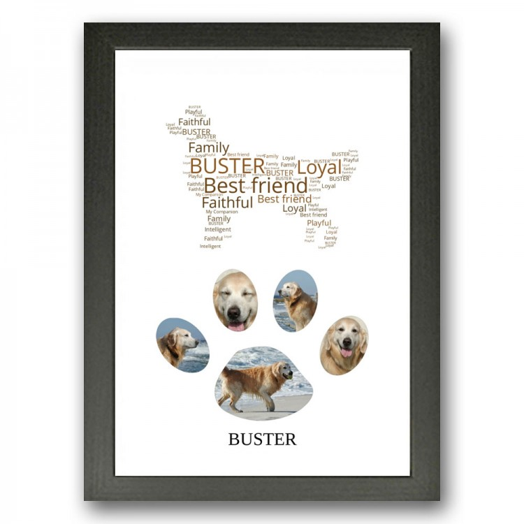 Golden Retriever Dog Photo Collage Gift