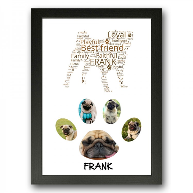Pug Dog Photo Collage Gift
