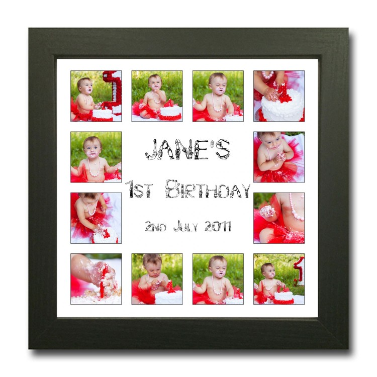 1st Birthday Photo Collage