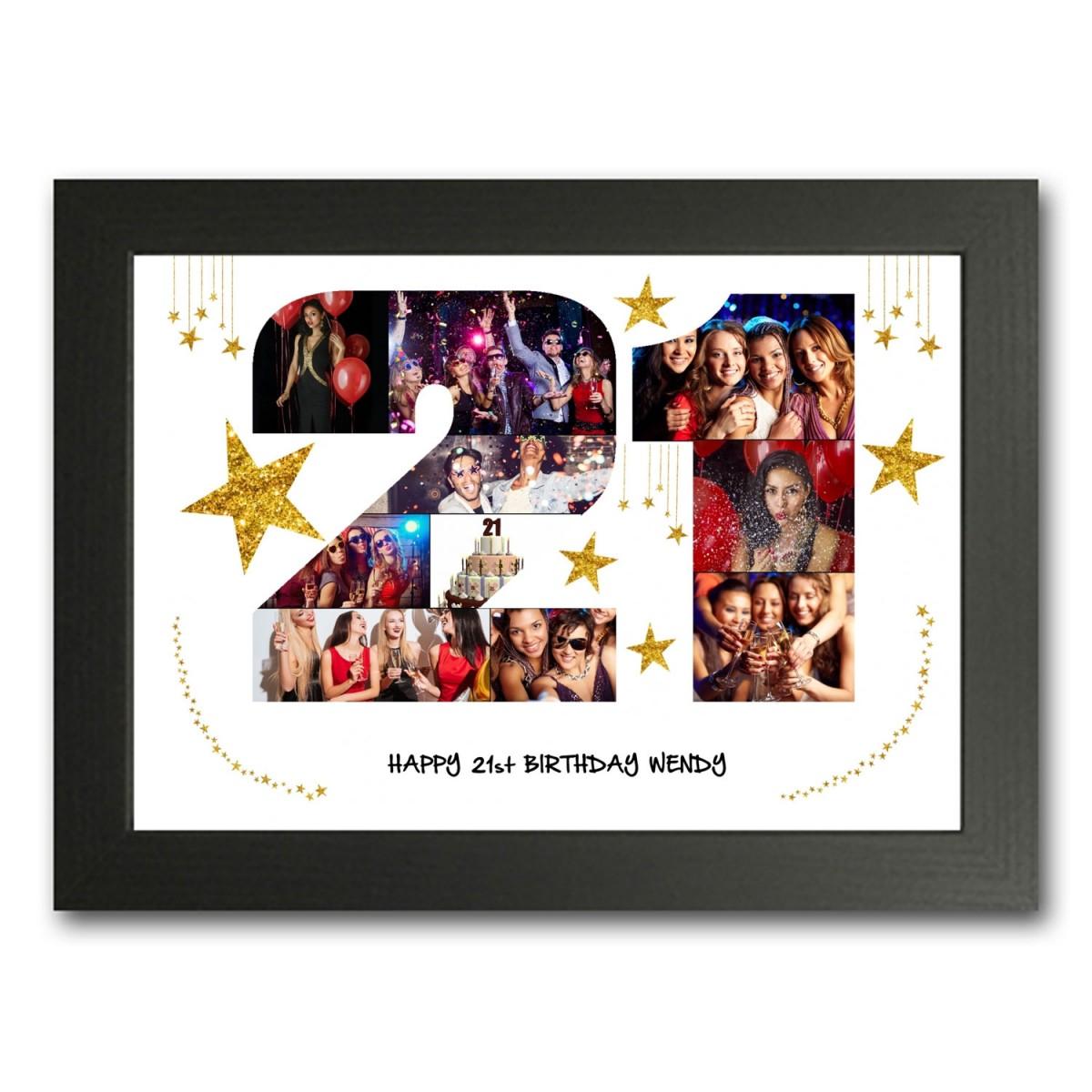 21st Birthday Photo Collage Maker