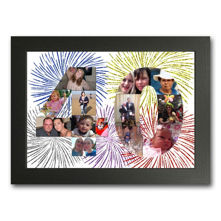40th Birthday Photo Collage Maker