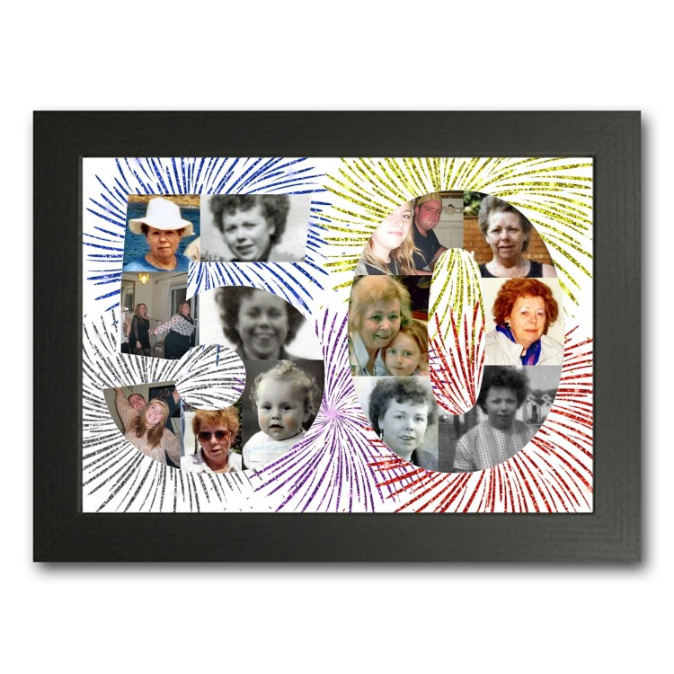 50th Birthday Photo Collage Maker
