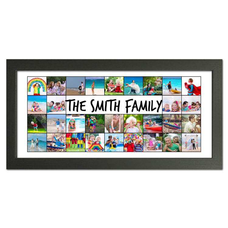 Large Family Photo Collage Gift