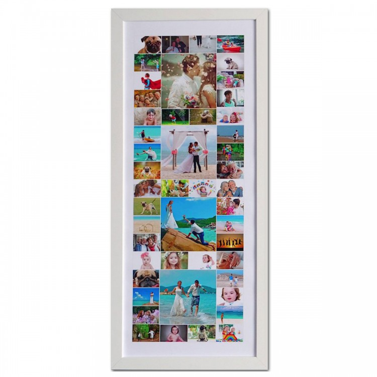 White Frame Panoramic Photo Collage