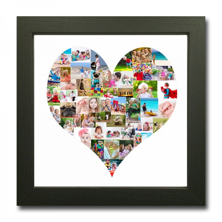 Square Heart Shape Photo Collage Maker