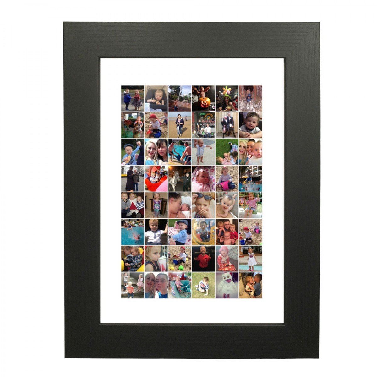 Shape Photo Collage Maker Rectangle Tall