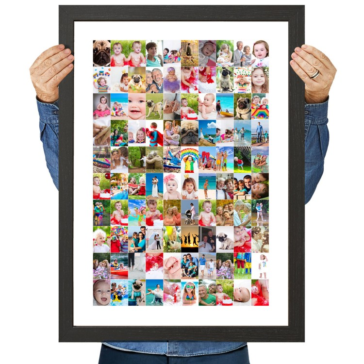 large 100 photo collage