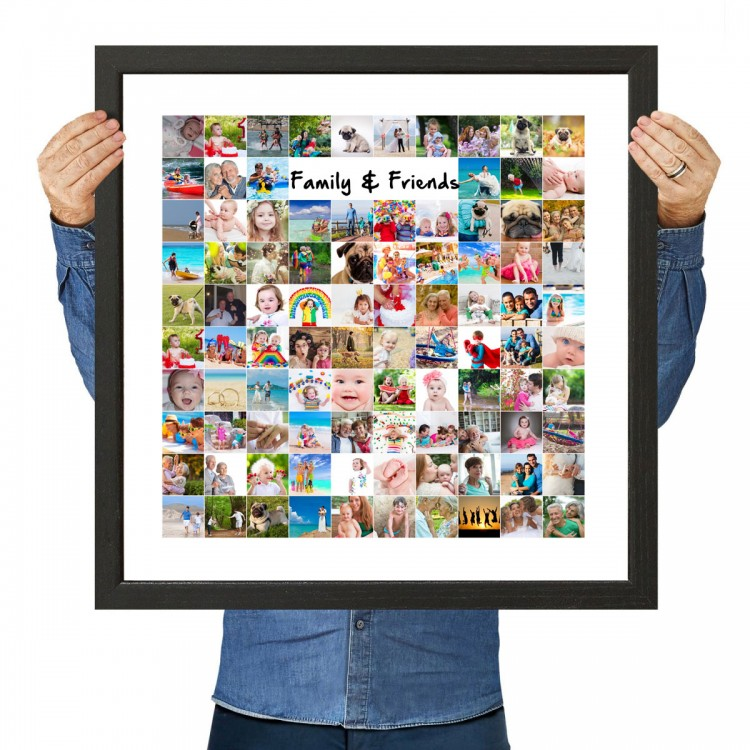 square friend and family photo collage